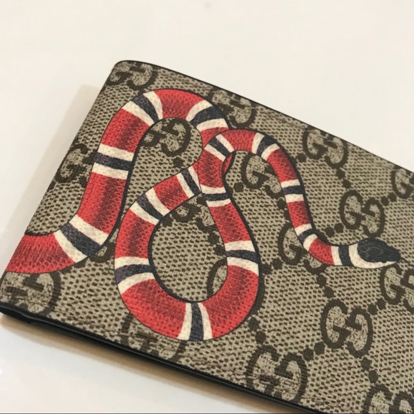 423c8c05fda8 Gucci Bags | Authentic Mens Kingsnake Gg Supreme Wallet | Poshmark